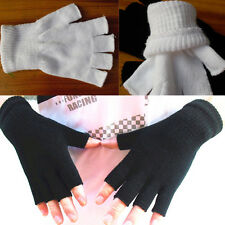 3 Colors New Women Winter Fingerless Half Fingers Warm Knit Magic Gloves Mittens