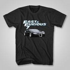 Fast and Furious 7 Movies 2015 Bugatti Sport Car New Short Sleeve T-Shirt S-5XL