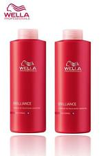 WELLA PROFESSIONAL BRILLIANCE SHAMPOO,CONDITIONER FOR FINE/NORMAL HAIR 1000ML