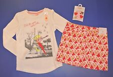 Gymboree Play by Heart NWT girls outfit 4 5 6 skirt white music shirt hair clips