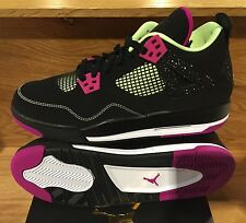 AIR JORDAN 4 RETRO 30TH GG GIRLS BOYS BLACK FUCHSIA LIME GS Y 705344-027 3.5-9