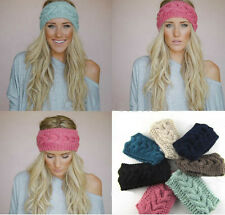 New Crochet Headband Knitted Hairband Flower Winter Women Ear Warmer Headwrap