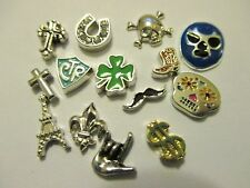 Floating Charms For Your Origami Owl Locket Luchador Cowboy Boot, Sugar Skull +