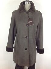 Cole Haan  NWT Luxurious & Modern Reversible  Brown Real Lamb Shearling Coat ,