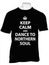 KEEP CALM AND DANCE TO NORTHERN SOUL TSHIRT STAX TAMLA MOTOWN WIGAN CASINO TORCH