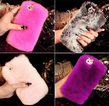 Luxury Soft Warmly Rabbit Hair Luxury Fluffy Fur Case Cover For Apple iPhone