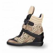NEW MONIKA CHIANG Artemys Spiked Stud Wedge $985 Sneakers Leather 36 38.5 /5 7.5