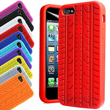 Soft Silicone Case Tyre Tread Gel Rubber Grip Cover For Apple iPhone 5/5s