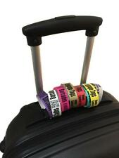 LUGGAGE TAGS Choice of Colours Secure plain or printed/personalised Packs 10-100