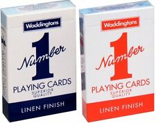 Waddingtons Number 1 Classic  Playing Cards Linen Finish Pack Of 1, 3,6 & 12 UK