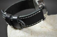 MA WATCH STRAP 24 MM REAL CALF LEATHER F.PANERAI HANDMADE SPAIN MALAGA II-BLACK