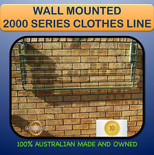 FOLD DOWN CLOTHESLINE WALL MOUNTED 2000mm x 600mm Australian made FRRE PEGS