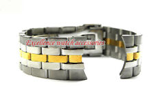 20mm or 21mm NEW Silver and Gold Curved end Stainless steel Watch Band Bracelets