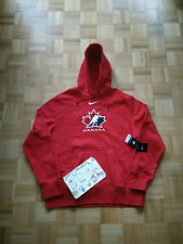 NWT Nike Canada Hockey Red Big Logo Men Hoodie Jacket *Available in size M & XL*