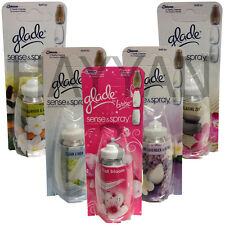 8 X GLADE SENSE AND SPRAY REFILLS HOME OFFICE SCENT AIR FRESHENER FRSH