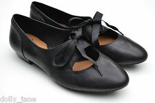 Clarks Ladies Softwear Shoes Cavier Toast Black Leather UK 4.5