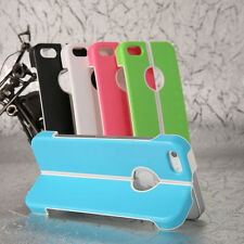 ultra thin flim hard PC case stand style for apple iphone 5 5s with stylus+film