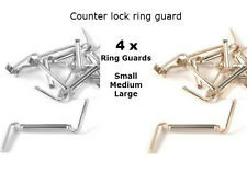 4X C-Lock White/Yellow Gold Filled Ring Guard Size Adjuster-FOR custom fit