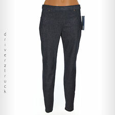 SIMPLY VERA WANG New SMALL NAVY Denim SHIMMER LEGGINGS Sparkle ANKLE LENGTH Pant