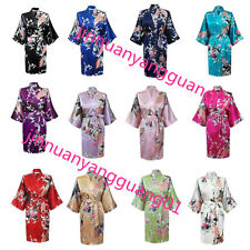 Women's Silk Blend Satin Pajama Night Gown Robes Sets Sleepwear Lady S-3XL