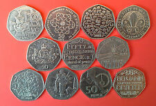 GB  COLLECTION COIN 50 p - Circulation Various Fifty Pence / Queen Elizabeth II