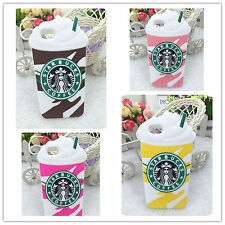 For iPhone 4 4S 5 5S 5C 6+ Starbucks Coffee Cup Silicone Mobile Phone Cover Case