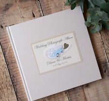 Personalised Wedding Photograph Album in Box. VW Camper Van. 20 Pages/40 Sides.