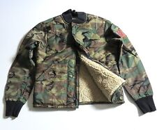 DENIM & SUPPLY RALPH LAUREN camo quilted faux shearling lined bomber jacket NWT