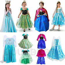 FROZEN Principessa Anna Elsa ragazza Cosplay Birthday Party Formal Dress 2-8 Y