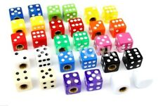 Bicycle Dice Valve Caps - Sold In Pairs - Huge Range Of Colours - Old School BMX