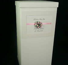Wedding,  post box, decorated, tall, all colour roses and ribbon, lace