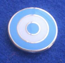 MOD TARGET BADGE - IN MANCHESTER CITY COLOURS - 12MM 16MM 20MM DIA