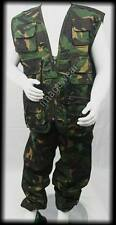 KIDS BOYS ARMY CAMO CLOTHING COMBAT WAISTCOAT AND TROUSER SUIT MULITI POCKETS