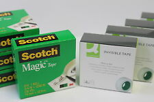 SCOTCH ORIGINAL MAGIC INVISIBLE TAPE OR Q-CONNECT INVISIBLE TAPE. GENUINE.