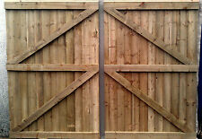 7FT HIGH Wooden Driveway gates,Garden Gates,Double,Featheredge Gate  Heavy Duty