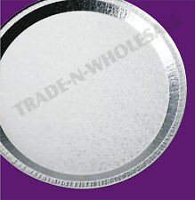 ROUND FOIL PARTY PLATTERS, SERVING PLATES, FOOD, SANDWICH, CATERING, DISPOSABLE