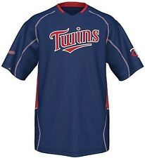 Minnesota Twins Majestic Men's Fast Action Jersey Navy Blue Big And Tall Sizes