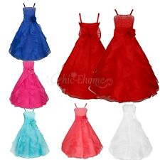 Flower Girl Birthday Pageant Party Princess Wedding Bridesmaid Formal Tutu Dress