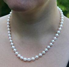 IVORY REAL FRESHWATER CULTURED PEARL NECKLACE DOUBLE OR SINGLE STRAND