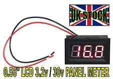 0.56inch LCD DC 3.2V-30V Red LED Panel Meter Digital Voltmeter with Two wires