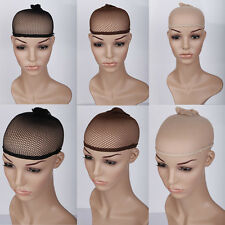US Real Hair Wigs Stocking Cap Weaving Mesh Net Fishnet Elastic Liner Brown mm2