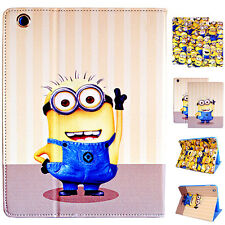 Despicable Me Minion PU Leather Wallet Holder Case Cover For Apple iPad Air