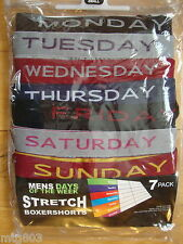 7 Pack Boxershort  Days Of The Week Multi Coloured Small & Large BNIB (340/1)
