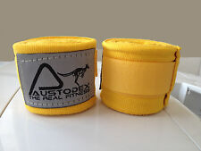 Austodex Boxing Hand straps/Wraps UFC wrist Guards cotton Bandages MMA yellow 4m