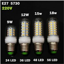 LED LAMP E27 E14 220V SMD5730 CORN LIGTH BULB WARM COLD WHITE 9W 12W 15W 18W 20W
