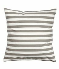 Striped Accent Decorative Cotton Canvas Throw Pillow Cover Cushion Light Taupe