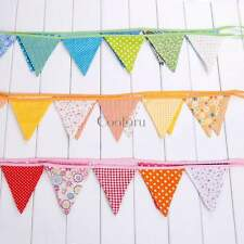 9ft Dots/Floral/Plaid Birthday Party Pennant Flag Banner Bunting Decoration New