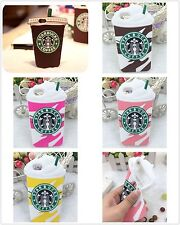 For iPhone 5 5S 5C 6 Plus Cool Starbucks 3D Silicone Coffee Cup Phone Case Cover