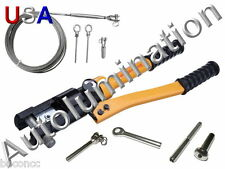 Stainless Steel Cable Hand Rail Hydraulic Crimper Crimp Swage Swaging Tool 16 Tn