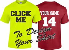 Custom Personalized T Shirt- Your Text Front and Back Tons of Options